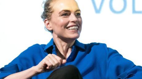 Die Schauspielerin Nina Hoss unterstützt junge Klimaaktivisten.