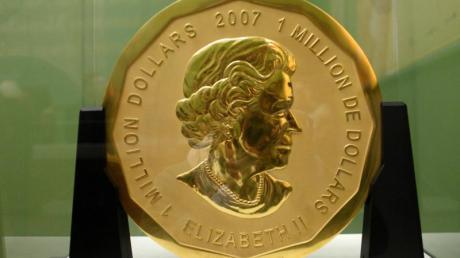 Die 100 Kilogramm schwere Goldmünze «Big Maple Leaf» wurde im März 2017 aus dem Berliner Bode-Museum gestohlen.