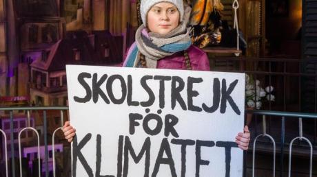 Die schwedische Klimaaktivistin Greta Thunberg als Wachsfigur auf der Hamburger Reeperbahn.