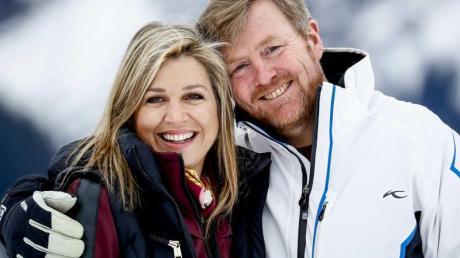 Königin Maxima und König Willem-Alexanderin in Lech am Arlberg.