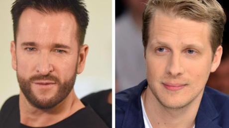 Sänger Michael Wendler (l) und Moderator Oliver Pocher liefern sich ein Duell. (Archivbilder).