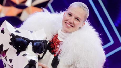 Stefanie Heinzmann verbarg sich unter der Maske der Dalmatiner-Hündin.