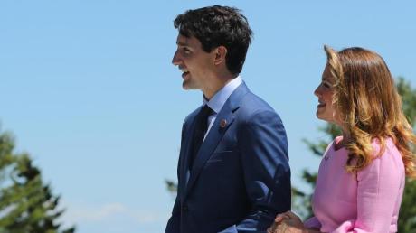 Justin Trudeau und seine Frau Sophie Grégoire Trudeau sind in Quarantäne.