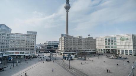 Berlin Alexanderplatz in Zeiten von Corona.