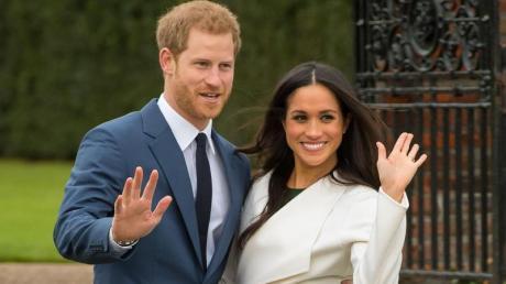 Prinz Harry und Herzogin Meghan verabschieden sich.