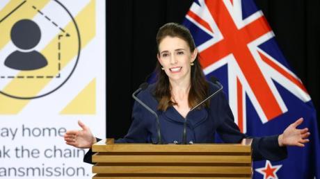 Jacinda Ardern, Premierministerin von Neuseeland, bei eienr Pressekonferenz zum Stand der Corona-Krise.