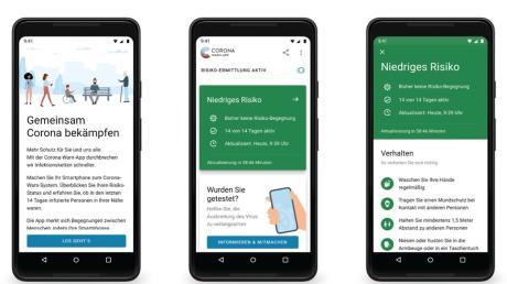 Die Entwickler der Corona-Warn-App, der Softwarekonzern SAP und die Deutsche Telekom, haben erste Screenshots der Software veröffentlicht.