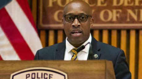 Die New Yorker Polizei gibt am 17. Juli eine Pressekonferenz.