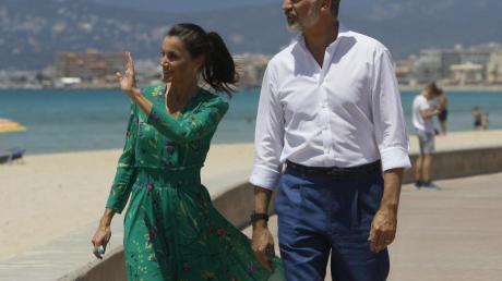 Um den Tourismus zu fördern, war das spanische Königspaar schon Ende Juni auf Mallorca gewesen.