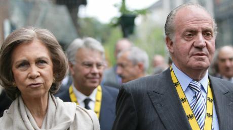 Das spanische Königspaar während eines Besuchs in Aachen 2007.