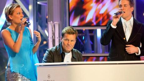 Die erste Staffel:Juliette Schoppmann und Alexander Klaws werden bei den Proben zum Finale von Dieter Bohlen am Flügel begleitet.