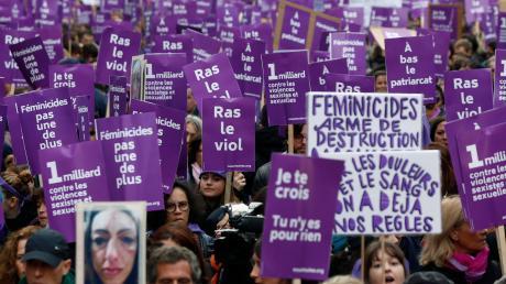 Protest gegen häusliche Gewalt: Paris Ende 2019.
