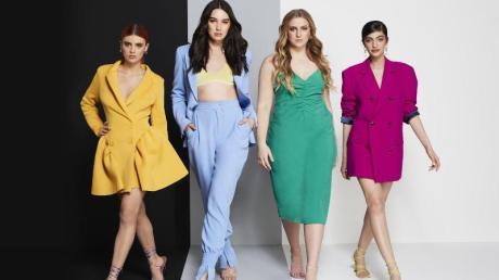Romina (l-r), Alex, Dascha und Soulin waren die vier Finalistinnen von «Germany's Next Topmodel» (undatierte Aufnahme).