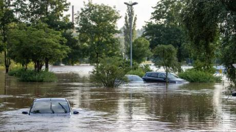 Starkregen  hatte die Aisch in Lisa Badums Heimat Franken über die Ufer treten lassen.