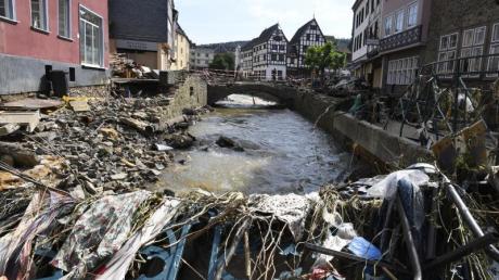 Viel Wasser - binnen kurzer Zeit: Die Hochwasserkatastrophe im Westen Deutschlands war aus Sicht von Klimaforschern ein extremes Ereignis.