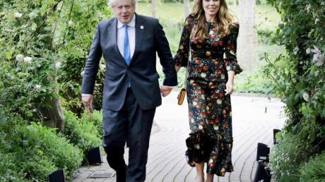 Carrie und Boris Johnson freuen sich über Nachwuchs. Aber die Ehefrau des britischen Premierminsters hatte zuvor eine Fehlgeburt.