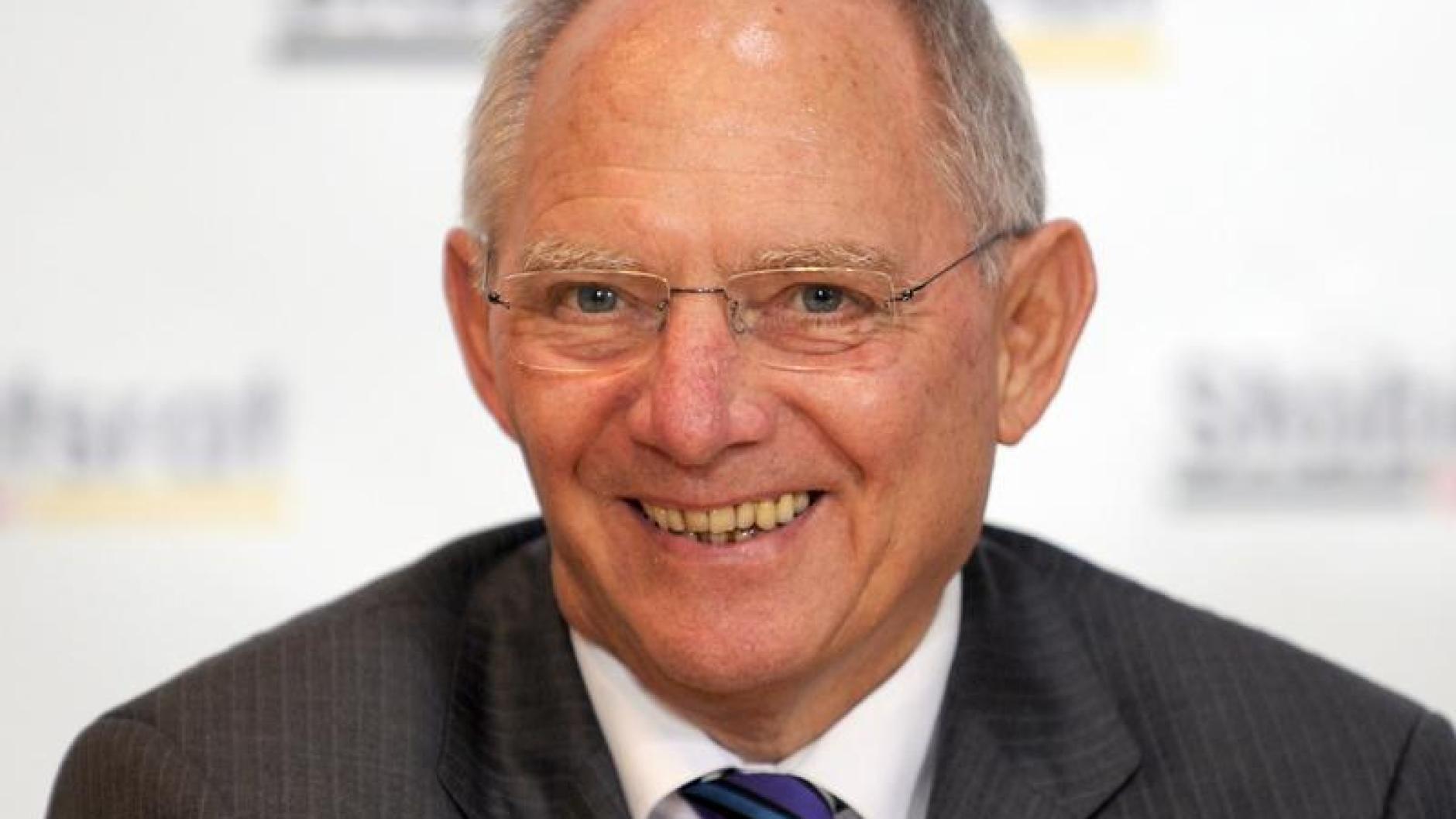 Bundesfinanzminister Schäuble: Ich möchte Ihnen gern die