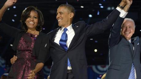 Barack Obama ist als US-Präsident wiedergewählt worden. Die US-Promis in aller Welt freuen sich - und twittern wie wild.