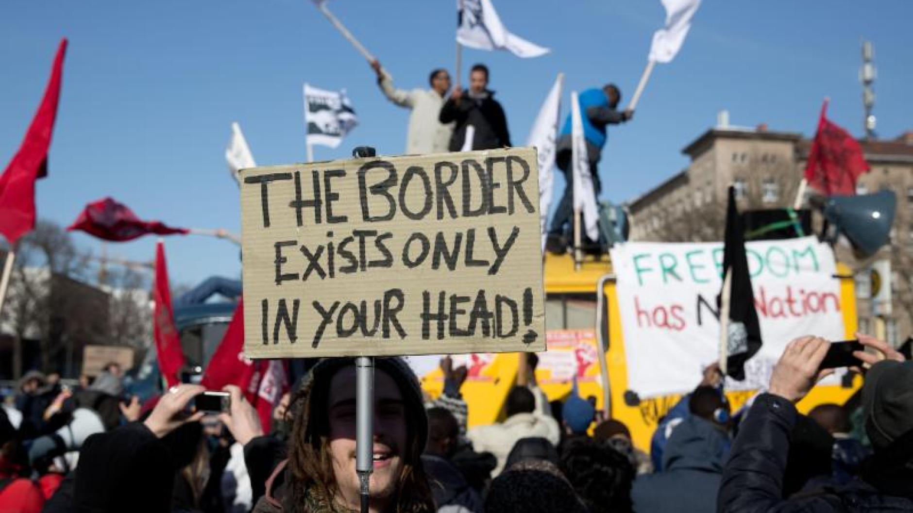 Demonstrationen: Flüchtlinge demonstrieren in Berlin für