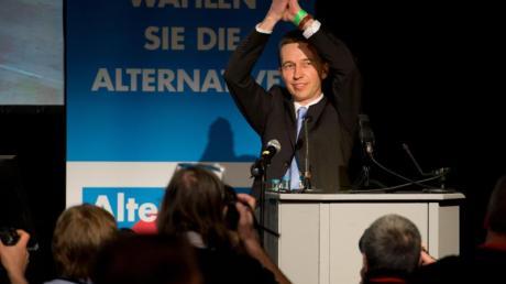 Vorsitzender  der Partei Alternative für Deutschland (AfD), Bernd Lucke, beim Gründungsparteitag.