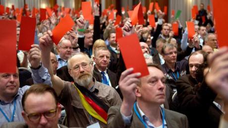 Rote Karte für Nazis? Beim Gründungsparteitag der AfD sollen auch einige NPD-Leute gewesen sein.