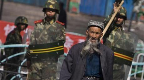 Ein Angehöriger der uigurischen Minderheit in China.