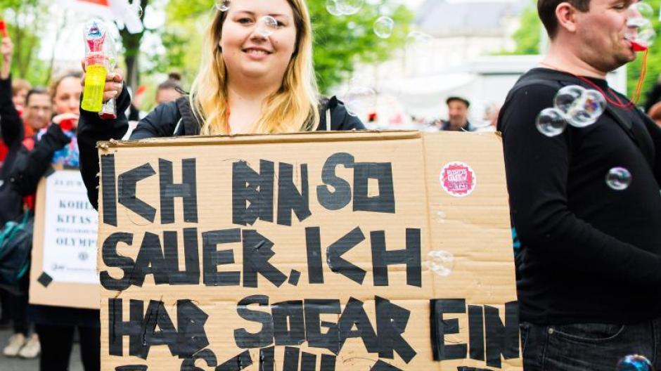 Tarife: Kita-Streik: Mehr als 30 000 Erzieher