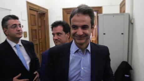 Kyriakos Mitsotakis gilt als Verfechter der Reformbemühungen des Landes und als Erneuerer der konservativen Partei Nea Dimokratia (ND). Foto: Alexandros Beltes