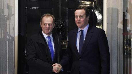 «Wichtiger Durchbruch»: Großbritanniens Premierminister David Cameron hat sich mit EU-Ratspräsident Donald Tusk auf die Modalitäten einer neuen «Notbremse» einigen können.
