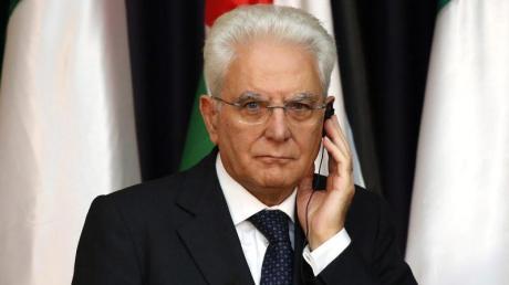 Der italienische Staatspräsident Sergio Mattarella.