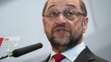 Der designierte Kanzlerkandidat der SPD, Martin Schulz.Noch liegt die Partei in den Umfragen deutlich hinter der Union.