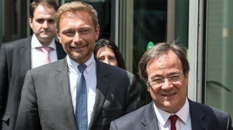 Demnächst Partner in einer schwarz-gelben Koalition?FDP-Chef Christian Lindner (links) und CDU-Chef Armin Laschet.