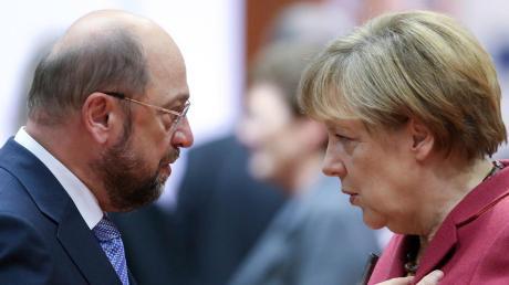Merkel gegen Schulz: Am Sonntag treten die beiden im TV-Duell gegeneinander an.