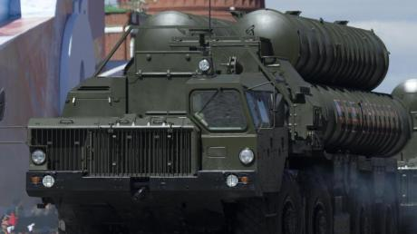 Raketensystem des Typs «S-400 Triumph» bei einer Parade auf dem Roten Platz in Moskau.