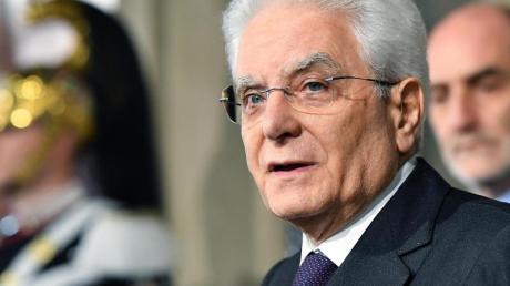 Präsident Sergio Mattarella hat die Regierungsbildung zwischen den Parteien für gescheitert erklärt.