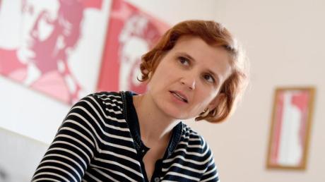 Katja Kipping wirft Sahra Wagenknecht vor, sich in der Flüchtlingspolitik von linken Positionen zu verabschieden. Foto: Britta Pedersen