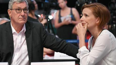 Bernd Riexinger und Katja Kipping, die Bundesvorsitzenden der Linken, sind nach den Landtagswahlen von Sachsen und Brandenburg auf der Suche nach der Identität ihrer Partei.