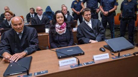 Lebenslange Haft für Beate Zschäpe wegen der Mordserie des «Nationalsozialistischen Untergrunds». Foto: Peter Kneffel