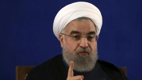 Der iranische Präsident Hassan Ruhani während einer Pressekonferenz in Teheran.