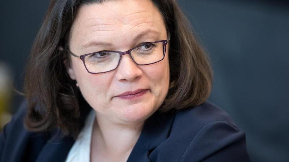 SPD-Chefin Andrea Nahles Anfang juli bei einer Fraktionssitzung der SPD-Fraktion im Bundestag. Foto: Bernd von Jutrczenka