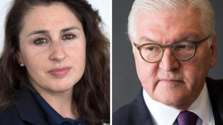 Die Bildkombo zeigt die Rechtsanwältin Seda Basay-Yildiz und Bundespräsident Frank-Walter Steinmeier. Fotos: Roessler/von Jutrczenka