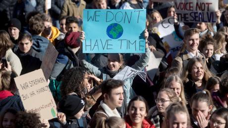 """Eine der vielen Protestbewegungen: """"Fridays for future"""" nennt sich die Initiative von Schülern, die mehr Engagement gegen den Klimawandel fordern."""