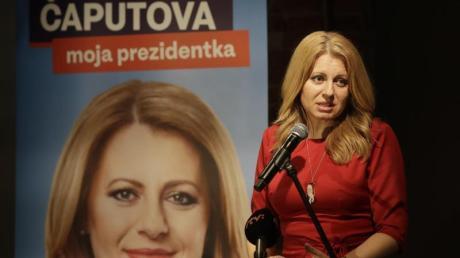 Zuzana Caputova hat die erste Runde der Präsidentschaftswahl klar gewonnen.