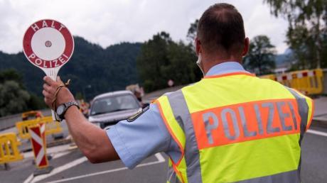Grenzkontrolle im bayerischen Oberaudorf.