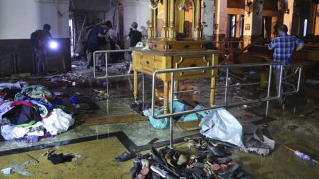 Bei Anschlägen in Sri Lanka wurden am Ostersonntag zahlreiche Menschen getötet, etwa hier in der Kirche St. Anthony's.