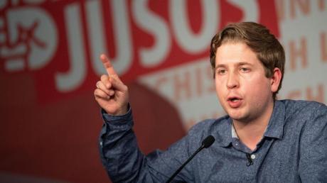 """Kevin Kühnert, Bundesvorsitzender der Jusos verteidigte seine Aussagen zum Thema Sozialismus auch in der ARD-Talkshow """"Anne Will""""."""