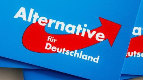 Das Logo der Alternative für Deutschland (AfD) auf Parteibroschüren. Foto: Markus Scholz/Illustration