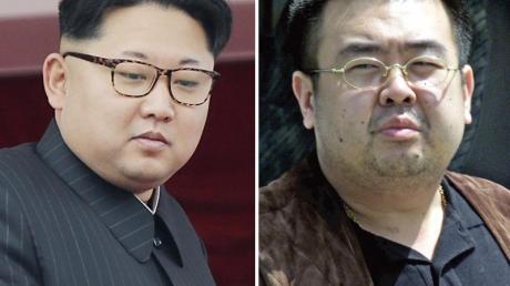 Der nordkoreanische Machthaber Kim Jong Un (l.) und sein Halbbruder Kim Jong Nam. Foto: Wong Maye-E/AP