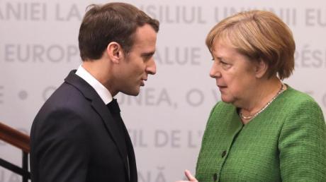 Bundeskanzlerin Angela Merkel und Frankreichs Präsident Emmanuel Macron sollen sich derzeit nicht besonders gut verstehen.