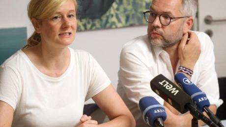 Christina Kampmann und Michael Roth kandidieren gemeinsam für den SPD-Parteivorsitz. Foto: Wolfgang Kumm